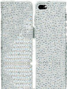 Iphone 8/7 MM Jewel Diagonal Wallet Silver