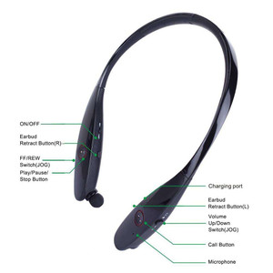 Around The Neck Wireless Headset 9000 + Black