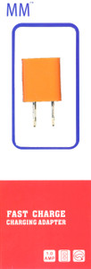 MM Travel Charger Adapter 1A Orange (Retail Packaged)