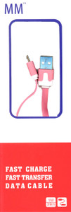 Micro Flat USB Cable Pink  (Retail Packaged)