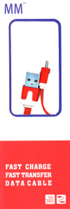 Micro Flat USB Cable Red (Retail Packaged)