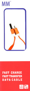 Micro Flat USB Cable Orange (Retail Packaged)