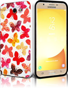 Samsung Galaxy J7(2017) MM Slim Dura Metal Rainbow Butterfly