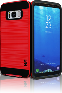 Samsung Galaxy  S8 MM Slim Dura Metal Finish Red