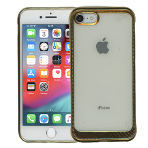 Iphone 8/7 MM Electroplated Carbon Fiber Candy Case Gold