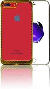 IPHONE 7 PLUS/8 PLUS MM Electroplated Carbon Fiber Candy Case Gold