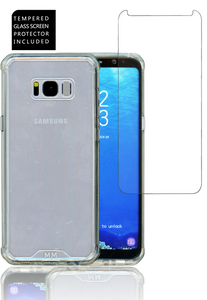 Samsung Galaxy S8 PLUS  MM Opal Crystal Armor Clear(Curved Tempered Glass Included)