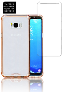 Samsung Galaxy S8 PLUS  MM Opal Crystal Armor PinkTempered Glass Included)