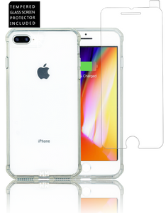 Iphone 7 PLUS/8 PLUS  MM Opal Crystal Armor Clear(Tempered Glass Included)