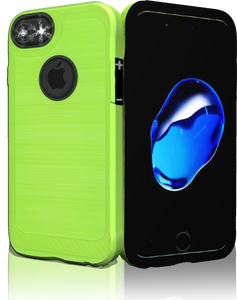 Iphone 8/7 MM Metal Carbon Fiber lime Green