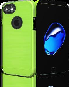 Iphone 8/7 MM Metal Carbon Fiber lime Green