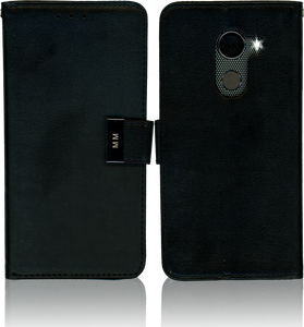 Alcatel A30 Fierce MM Premium Folio  Wallet Black