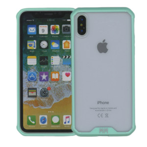 Iphone X/10/XS MM Opal Crystal Armor Green(Tempered Glass Included)
