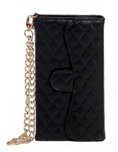 iphone 6 Plus/6S PLUS Quilted Wallet With Chain Black