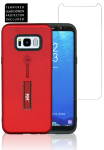 SAM S8 PLUS MM Opal Slim Kickstand Red