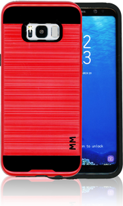 Samsung Galaxy S8 PLUS MM Slim Dura Metal Finish Red