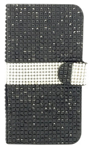 iphone 6/6S Full Bling Wallet Black