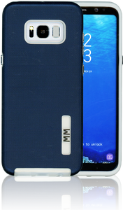 Samsung Galaxy S8 PLUS MM Opal Slim Case Navy Blue(Curved Tempered Glass Included)