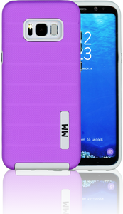 Samsung Galaxy S8 PLUS MM Opal Slim Case Purple(Curved Tempered Glass Included)