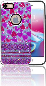 Iphone 7/8 MM 3D Purple Hearts