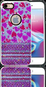 Iphone 7/8 MM 3D Purple Hearts