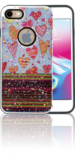 Iphone 7/8 MM 3D Chevron Heart