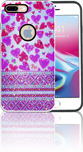 Iphone 7 PLUS/8 PLUS MM 3D Purple Hearts