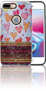 Iphone 7 PLUS/8 PLUS MM 3D Chevron Heart