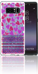 Samsung Note 8 MM 3D Purple Hearts