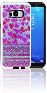 Samsung Galaxy S8 MM 3D Purple Hearts
