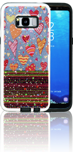 Samsung Galaxy S8 MM 3D Chevron Heart