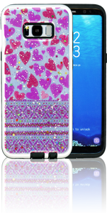 Samsung Galaxy S8 PLUS MM 3D Purple Hearts