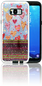 Samsung Galaxy S8 PLUS MM 3D Chevron Heart