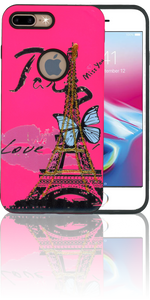 Iphone 7 PLUS/8 PLUS  MM 3D Paris Butterfly