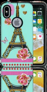 Iphone X/10/XS MM 3D Paris Flower