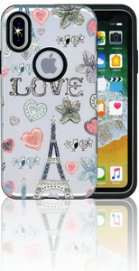 Iphone X/10/XS  MM 3D Paris Hearts