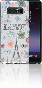 Samsung Galaxy Note 8 MM 3D Paris Hearts