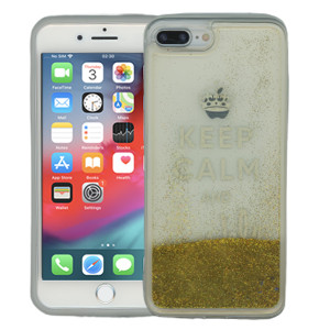 Iphone 7 PLUS/8 PLUS  MM Water Glitter Keep Calm & Sparkle