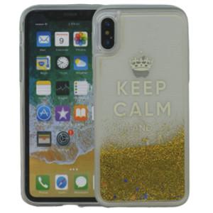 Iphone X/10/XS  MM Water Glitter Keep Calm & Sparkle