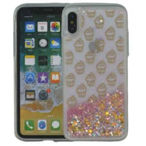 Iphone X/10/XS  MM Water Glitter Cup Cake