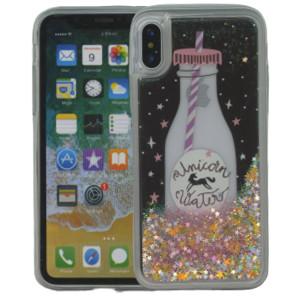 Iphone X/10/XS  MM Water Glitter Unicorn