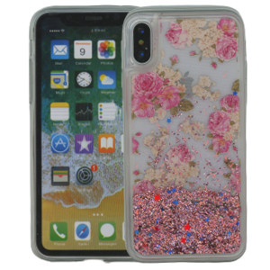 Iphone X/10/XS  MM Water Glitter Flowers