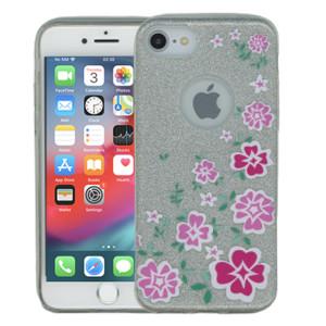 Iphone 7/8  MM Flowers Glitter Hybrid