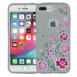 Iphone 7 PLUS/8 PLUS  MM Flowers Glitter Hybrid