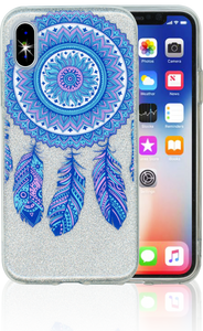 Iphone X/10/XS  MM Feathers Glitter Hybrid