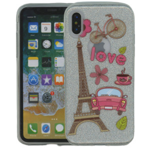 Iphone X/10/XS MM Paris Glitter Hybrid