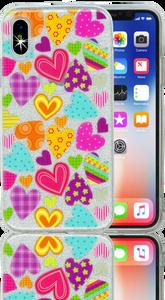 Iphone X/10/XS  MM Hearts Glitter Hybrid