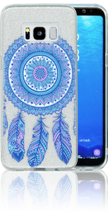 Samsung Galaxy S8  MM Feathers Glitter Hybrid