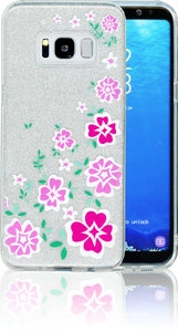 Samsung Galaxy S8  MM Flowers Glitter Hybrid