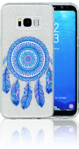 Samsung Galaxy S8 PLUS  MM Feathers Glitter Hybrid
